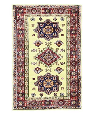 Bashian Hand Knotted Fine Kazak Rug, Ivory, 3' 3 x 4' 10