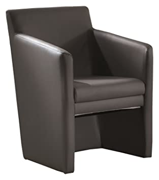 Stones Paola Fauteuil, simili cuir, anthracite, 63 x 62 x 85 cm