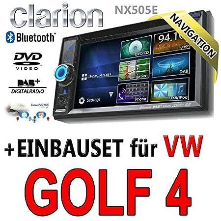 VW golf iV-clarion 4 nX505E 2 dIN navigationsradio intelligent vOICE, hDMI, uSB kIT TM