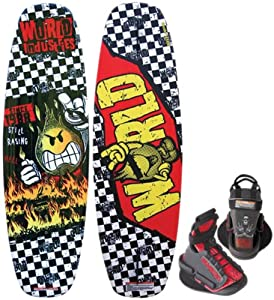 Kwik Tek  WIW-22 WORLD INDUSTRIES CHECKS Marine Wakeboard Youth Combo