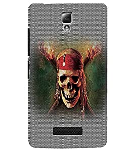 PrintDhaba Pirate Skull D-5015 Back Case Cover for LENOVO A2010 (Multi-Coloured)