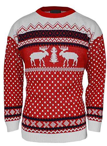 MENS-XMAS-NOVELTY-KNITTED-CHRISTMAS-REINDEER-SWEATER-JUMPERJMJ-0005