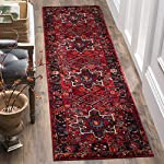 """Safavieh Vintage Hamadan Collection VTH211A Antiqued Oriental Red and Multi Runner (22"""" x 8)"""