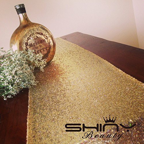 Shiny Gold Sequin Table Runner