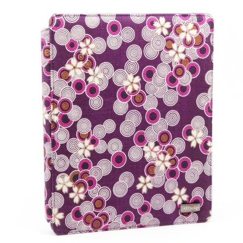 JAVOedge Cherry Blossom Axis Case for the Apple iPad 2 with Sleep/Wake Function (Twilight Purple) - Latest Generation