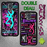 Original Country Girl Double Deal Black and Hot Pink Camo Samsung Galaxy S5 Case