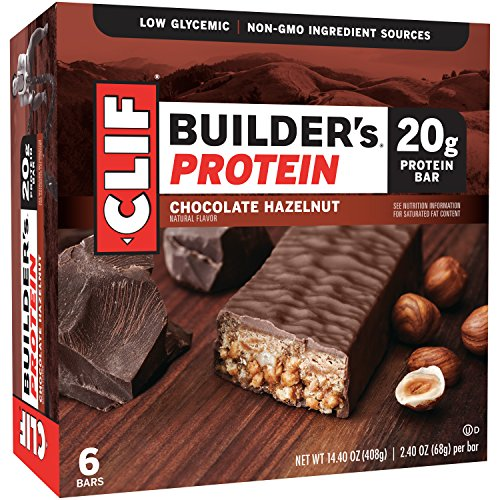 Clif Builders Bar Protein Food Bar, Chocolate Hazelnut, 6 Count (Clif Bar Protein compare prices)