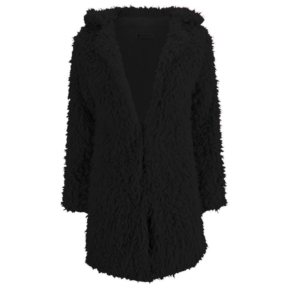 Fedi Apparel Women's Winter Warm Vintage Faux Fur Coat Outwear Cardigan Jacket 0