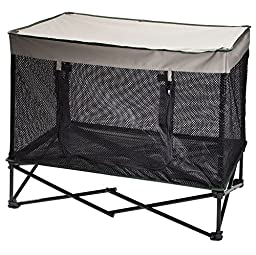 Quik Shade Outdoor Instant Pet Kennel Combo with Elevated Mesh Breathable Bed - Medium