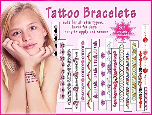 Girls Temporary Tattoo Bracelets - 1