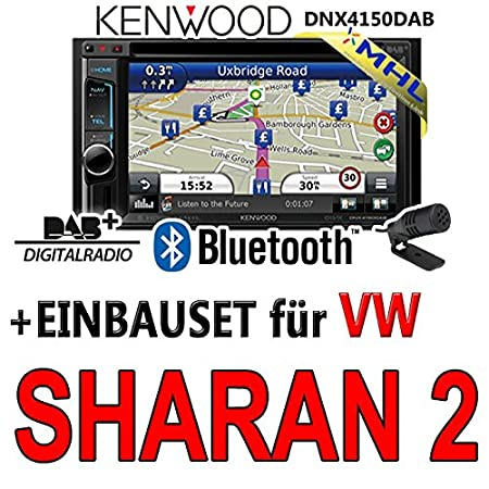 VW sharan 2-dIN 2 dNX4150DAB kenwood-navigationsradio mHL autoradio dAB uSB avec kit de montage