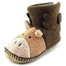 Hanna Andersson Moose Slipper (Toddler/Little Kid/Big Kid),Brown,11 M US Little Kid