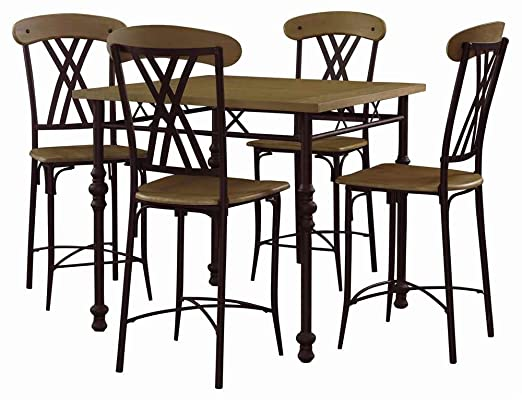Powell Cowell 5 Piece Gathering Height Dining Table Set