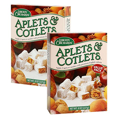 Liberty Orchards Aplets and Cotlets Value Pack 8 oz Boxes (Pack of 2)