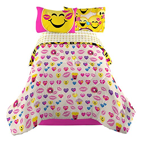 Emojination-MJ6438-Happy-Happy-Reversible-Comforter-Twin