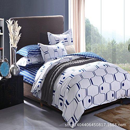 Nordic Ikea Bedroom Set Denim Textile Fashion Bedding Set front-854158