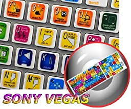 SONY VEGAS KEYBOARD STICKERS FOR DESKTOP, LAPTOP AND NOTEBOOK