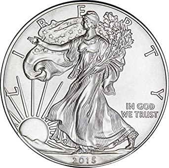 2015 Silver Eagle with Airtight Holder $1 Brilliant