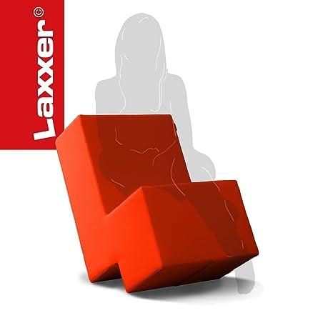 Laxxer - das flexible Sitzmöbel - Sessel mit Stil in orange - der Polsterhocker fur jede Gelegenheit