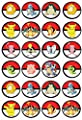 EDIBLE CAKE IMAGE -POKEMON - 24 CUPCAKE TOPPERS oarty US seller