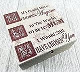 Mum Inglés Memory Box de recuerdo de madera, tamaño grande