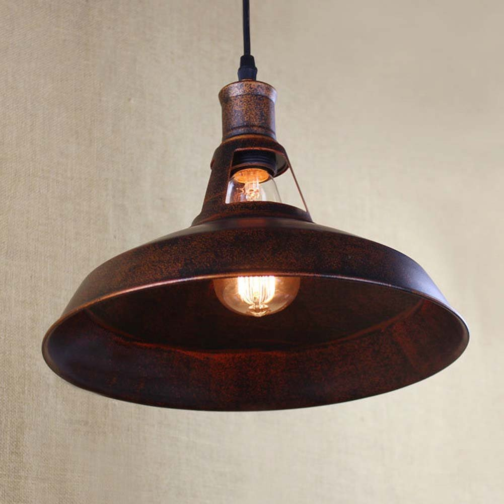 BAYCHEER HL421217 Industrial Retro Vintage style 12'' Wide Small Single Light Pendant Light Lampe Chandelier in Antique Copper use E26/27 Bulb 2