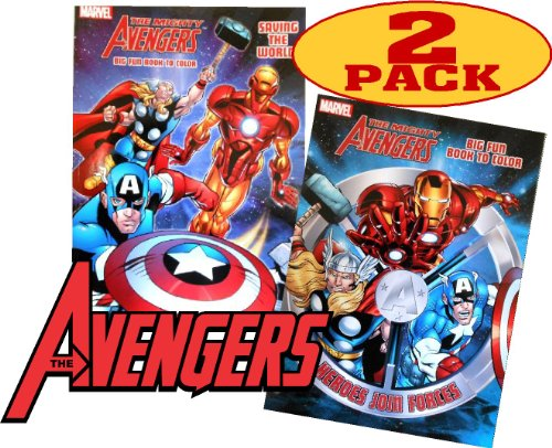 Marvel Mighty Avengers® Coloring And Activity Book Set (2 Books ~ 96 Pgs Each) front-744868