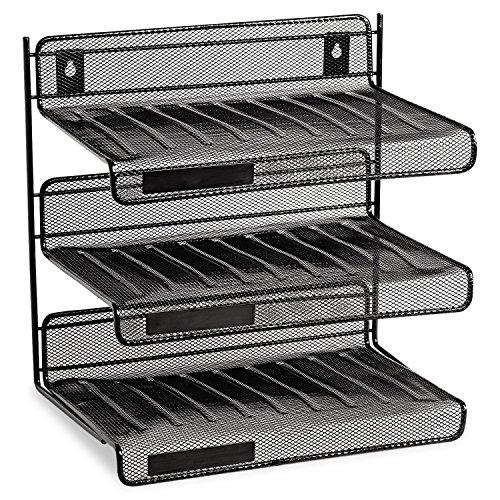 Eldon Expressions Mesh 3 Tier Desk Shelf Unit (Eldon 3 Tier compare prices)