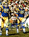 Autographed Jack Youngblood 8x10 Los Angeles Rams Photo