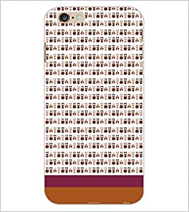 PrintDhaba Owl pattern D-1839 Back Case Cover for APPLE IPHONE 6S (Multi-Coloured)