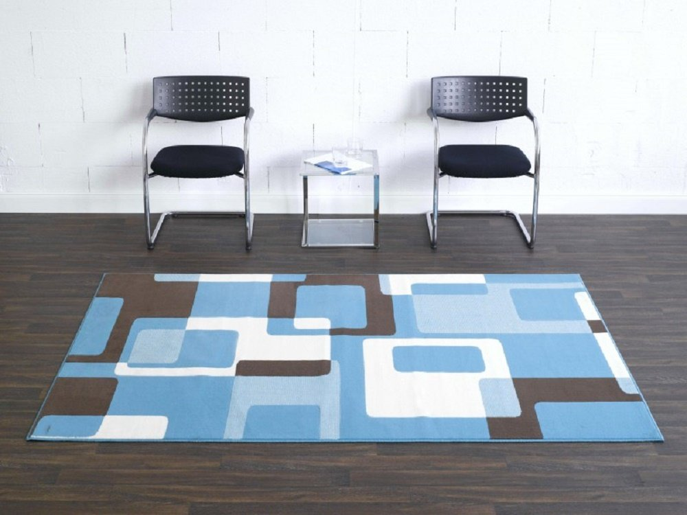 Teppich Retro blau beige braun / moderner Teppich / Wohnzimmerteppich / Wohnzimmerteppich in schönen Farben / Wohnzimmerteppich / Designerteppich in schönen Farben / Qualitätsteppich Designer Teppich Wohnteppich Teppich moderner Wohnzimmer Teppich / Als markantes Accessoire in Ihrem Wohnbereich – der Teppich strahlt einen Ausdruck von Abenteuerlust aus. Der Teppich passt mit seiner Farbgebung in jede moderne Wohnlandschaft. Trendiger Teppich in modischen Farben und Designs – vereint dieser Teppich einzigartige Akzente des Wohlfühlens und Eleganz, der in Ihrem Zuhause für eine angenehme Atmosphäre sorgt. Robust und Strapazierfähig 160 x 230 cm . Dieses Highlight der neuen Kollektion beeindruckt durch einzigartige Farbkombination. Dieses Highlight der neuen Kollektion beeindruckt durch einzigartige Farben als Farbverlauf . Doch seine Besonderheit bekommt dieses Modell durch das ausgefalle Muster, welches in dieser Form nur selten zu finden ist. jetzt bestellen