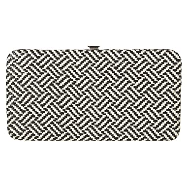 Product Image Merona Clutch B&W Basket Weave