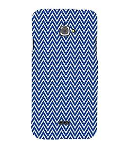 Blue Chevron Cross 3D Hard Polycarbonate Designer Back Case Cover for InFocus M350