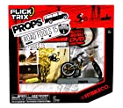 Spinmaster Flick Trix Fingerbike Real Bikes, Unreal Tricks BMX Bicycle Miniature Set - FITBIKE CO. with Display Base and DVD Props Road Fools 15