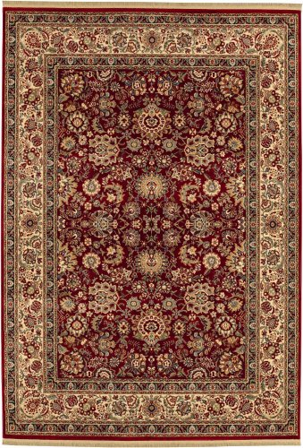 Shaw Living Kathy Ireland Home Gallery 7-Foot 8-Inch by 9-Foot 9-Inch Rug in European Elegance Pattern, Red