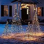 Pre-lit Fold-Flat Metal Christmas Tree