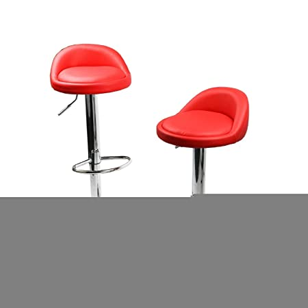 Taburetes comedor Yopih giratorio Kitchen contador de altura ajustable taburete de Bar silla rojo juego de 4