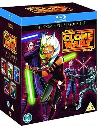 Star Wars Clone Wars - Season 1-5 [Blu-ray]