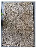 Seagrass Natural Area Rug Mat Carpet Indoor Outdoor Patio Porch Flooring For Any Room Earth Rustic Braided Marine Grass Woven Kitchen Dining Room Entry Door