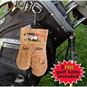 My Sack It Takes Balls To Golf Senior Edition Golf Ball Holder