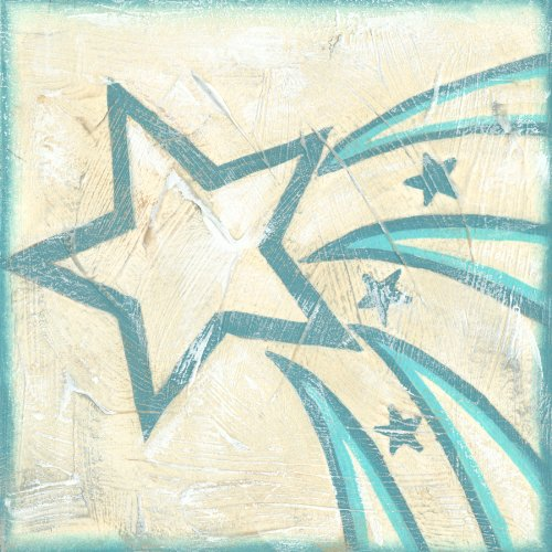 Green Frog Art 6X6 Canvas Gallery Wrapped Art, Constellations I