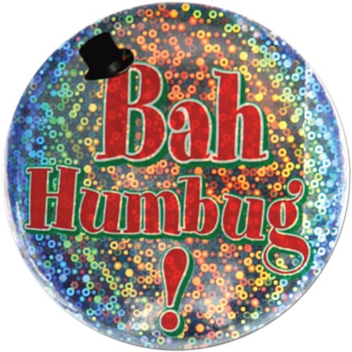 Bah Humbug Button Party Accessory (1 count) (1/Pkg)
