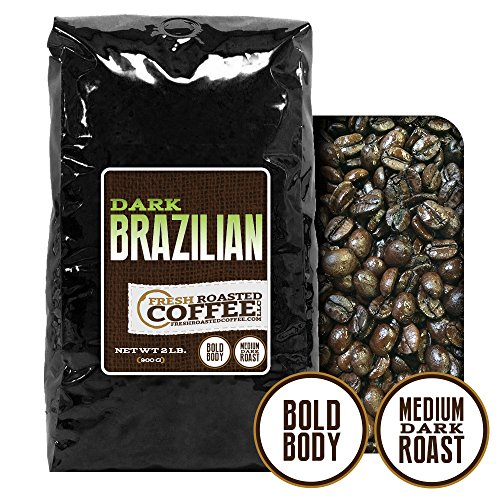 2 Lb. Bag, Dark Brazilian Cerrado, Whole Bean Coffee, Fresh Roasted Coffee Llc
