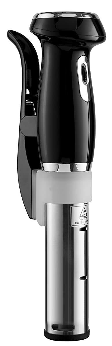 Gourmia GSV130 Digital Sous Vide Machine Pod Immersion Circulator Precision Cooker – Powerful 1200 Watts Motor - Digital Timer Display - Black - Includes Free Recipe Cookbook