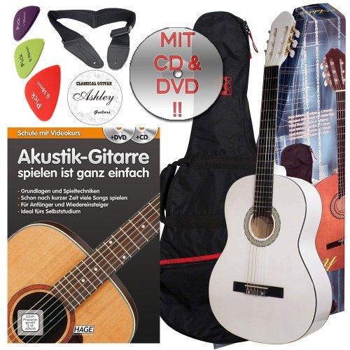 ashley-guitarra-clasica-con-funda-set-color-blanco-tamano-4-4-a-partir-de-ca-16-anos