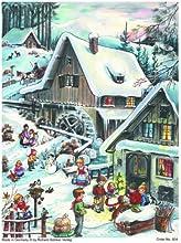 Richard Sellmer Verlag RS804 - Calendario de Adviento (medidas: 297 x 210 mm, 24 ventanas), diseño con purpurina y ventanas translúcidas
