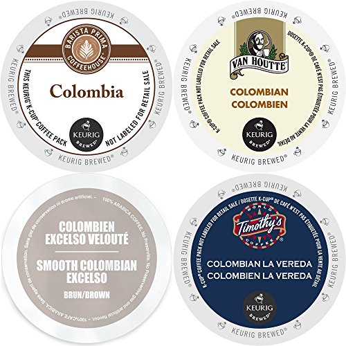Colombia Coffee K-Cup Variety Pack, 96 Count Sampler: Barista Prima Colombia, Van Houtte Colombian Medium Coffee, Faro Smooth Colombian, and Timothy's Colombian La Vereda, Keurig 2.0 K-Cup Assortment (Keurig K Cup Coffee Sampler compare prices)