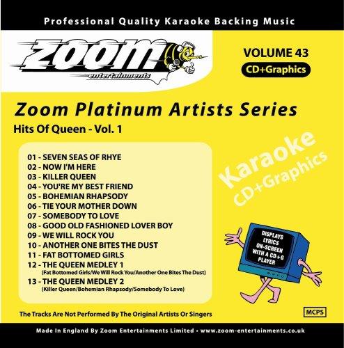 Queen - Zoom Karaoke CD+G - Platinum Artists 43: Queen 1 - Zortam Music