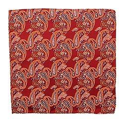 Orien Mens Gentlemens Comfort Cashew Flowers Handkerchiefs Pocket Square Hanky from Orien