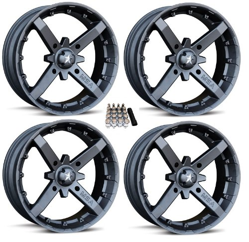 MSA M23 Battle ATV Wheels/Rims Flat Black 14
